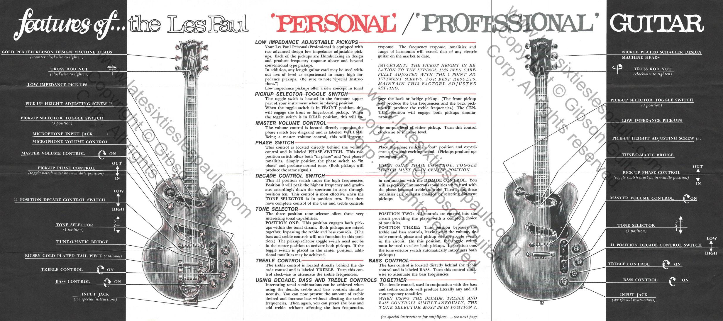 Les Paul Guitar Manual Ukulele String Diagram Free Download Wiring Schematic 1968 And 1969 Serial Number Information Rh Latesixtieslespauls Com Haynes Bass